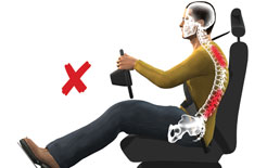 Incorrect driving posture